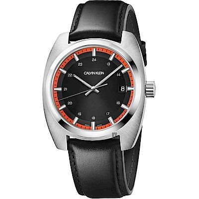 Calvin Klein CK Achieve 雅仕手錶-黑/44mm(K8W311C1)