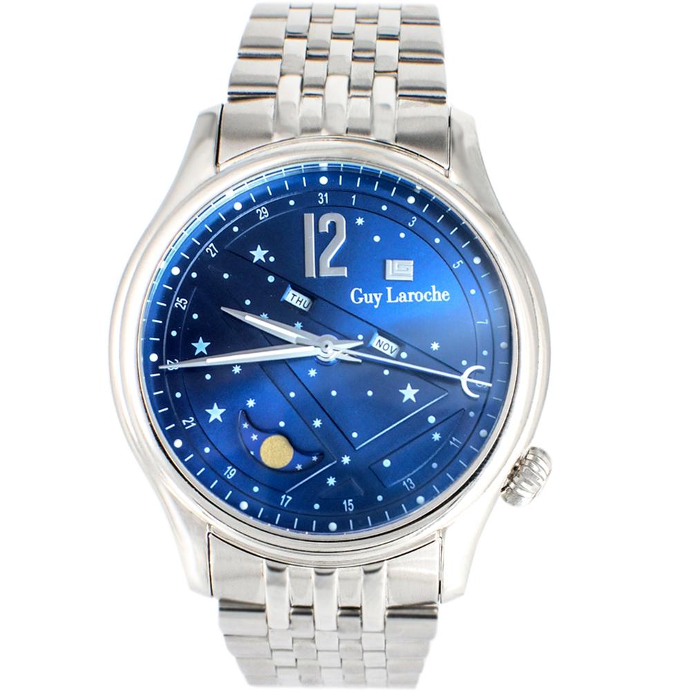 姬龍雪Guy Laroche Timepieces星空月相時尚錶(GW2007-03)