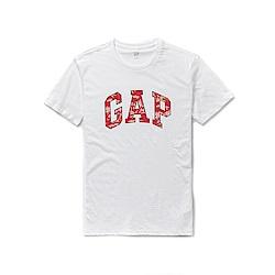 GAP 熱銷經典文字短袖T恤-白色