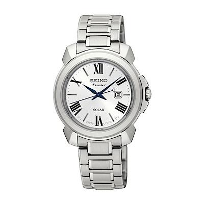 SEIKO Premier妳的優雅品味太陽能女錶V137-0CT0S/SUT321J1