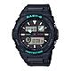 CASIO BABY-G G-LIDE系列海洋風格潮汐雙顯錶-黑X綠(BAX-100-1ADR)/42.4mm product thumbnail 1