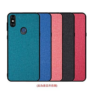 QinD MIUI 紅米 Note 6 Pro 布藝保護套