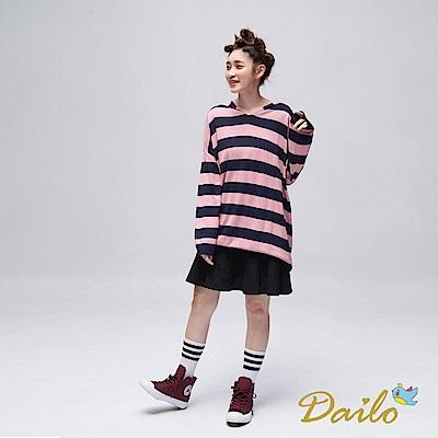 Dailo INLook 格紋口袋拼接小圓褲裙(黑色)