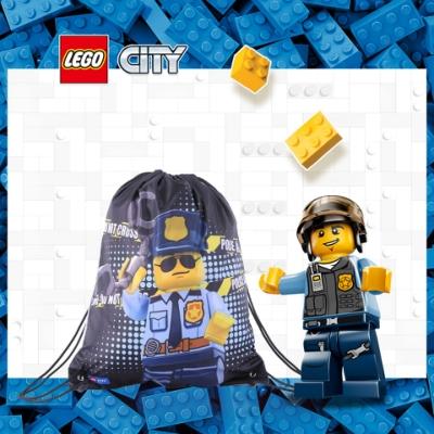 LEGO丹麥樂高束口包-警察 10034-2003