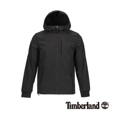 Timberland 男款黑色戶外休閒連帽夾克 A1OM3