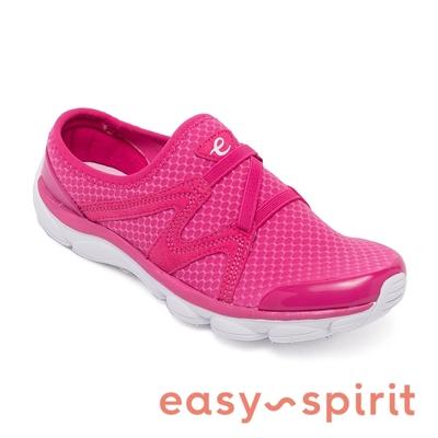 easy spirit-seRIPTIDE2 透氣彈性布輕量型休閒鞋-桃紅