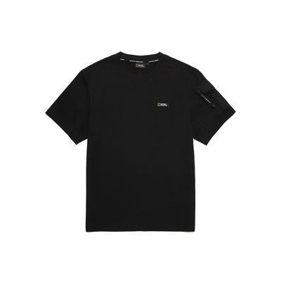 NATIONAL GEOGRAPHIC 男 ROWDY SMALL LOGO SLEEVEPOCKET H/TEE 短袖T恤 炭黑-N212MTS050198