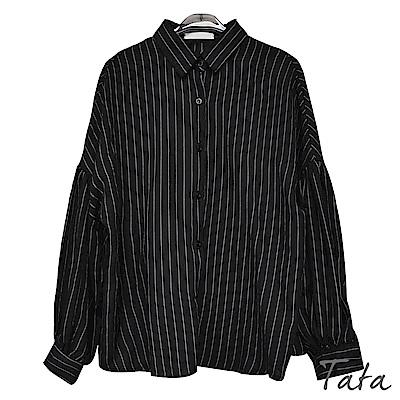直條紋蓬袖襯衫 TATA