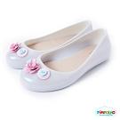 Pimpolho 可愛小花娃娃鞋-童-珍珠白