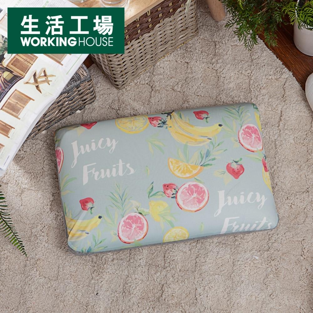 【生活工場】沁甜果舞涼感低反彈枕-綠
