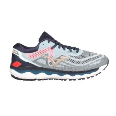MIZUNO WAVE SKY 4 男慢跑鞋-路跑 美津濃 運動 J1GC200242 丈青淺藍金