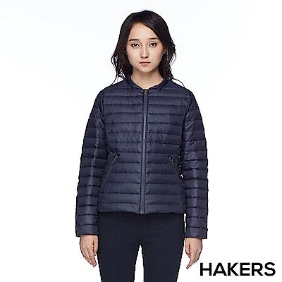 【HAKERS 哈克士】女款 羽絨外套(石墨藍)