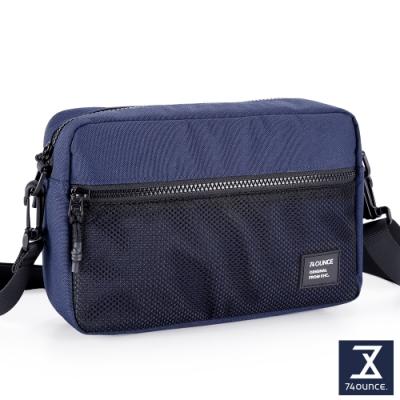 74盎司 MOBILE 網狀橫式側背包[LG-900-MO-W]藍