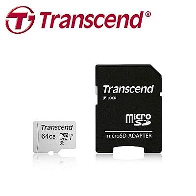 創見 64GB 300S microSDHC UHS-I U1 記憶卡(附轉卡)