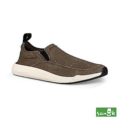 SANUK 率性拉環設計休閒鞋-中性款(橄欖綠)