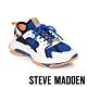 STEVE-MADDEN-GRADUALLY 異材質撞色拼接厚底老爹鞋-藍橘拼接 product thumbnail 1