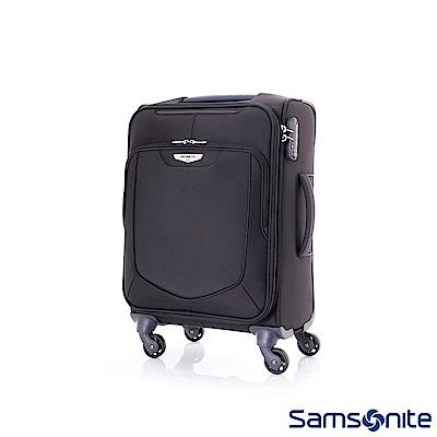 Samsonite新秀麗 20吋Emper簡約可擴充TSA布面登機箱(黑)