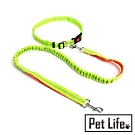 Pet Life 防暴衝鬆緊尼龍寵物夜跑步反光牽引帶/牽繩