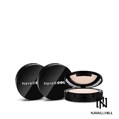 Navalli Hill 絲絨裸肌美白粉餅-自然色【3入組】