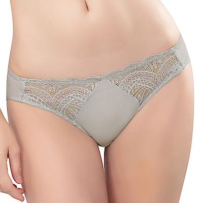 思薇爾 花舞系列M-XL蕾絲低腰三角內褲(塵灰色)