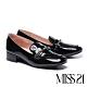 高跟鞋 MISS 21 氣質精緻小香風全真皮樂福高跟鞋-黑 product thumbnail 1