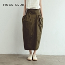 【MOSS CLUB】不規則剪裁造型-長裙(黑色)