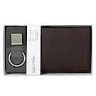 Calvin Klein 荔枝壓紋短夾鑰匙圈禮盒
