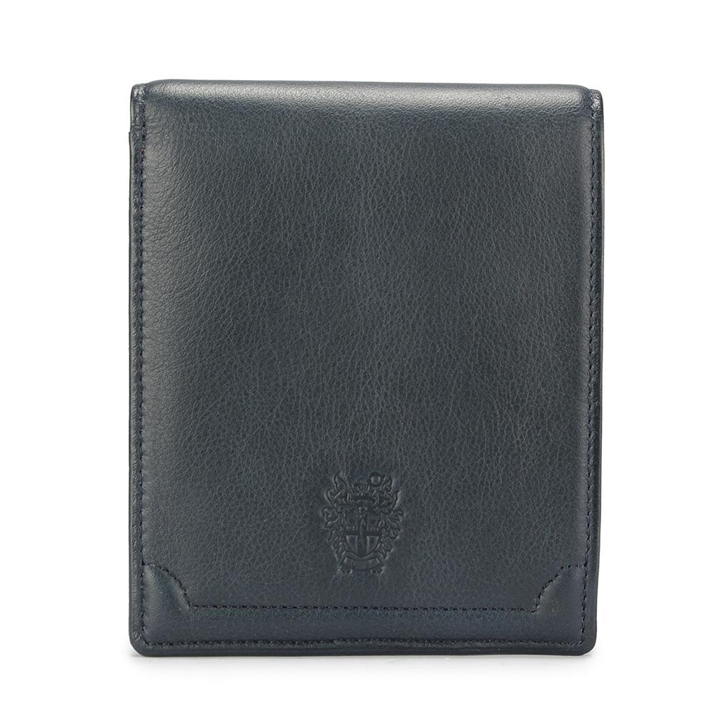 DAKS經典家徽壓紋軟皮革零錢袋短夾-藍灰色 @ Y!購物