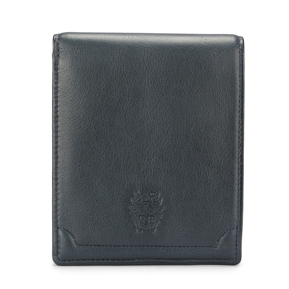 DAKS經典家徽壓紋軟皮革多卡格短夾-藍灰色 @ Y!購物