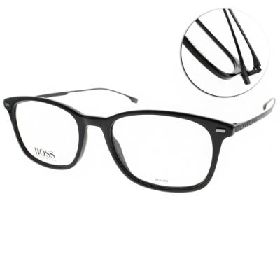 HUGO BOSS 光學眼鏡  鈦 LOGO膠框/黑 # HB1015 807