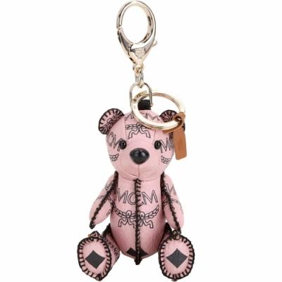 MCM Visetos Zoo Bear 小熊造型吊飾鑰匙圈(粉色)