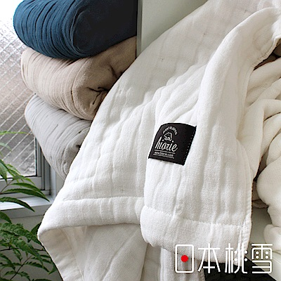 日本桃雪八層紗透氣被(純淨白)