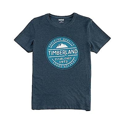 Timberland 男款深藍色 LOGO T恤|A1NHG