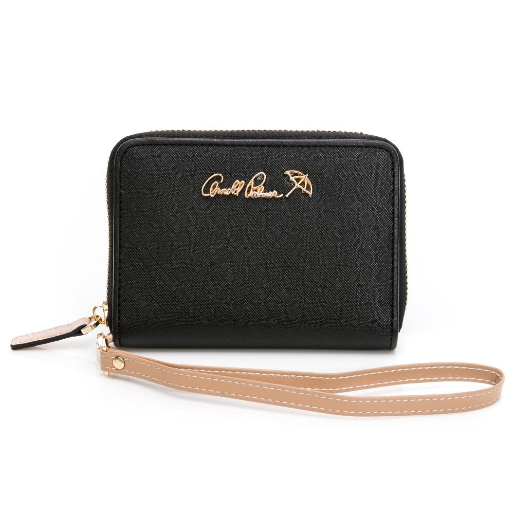 Arnold Palmer - 零錢包附手挽帶 黑色十字紋系列 - 黑色