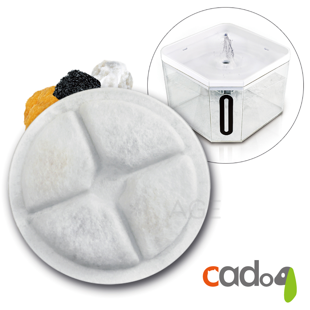 Cadog卡多樂寵物靜音循環飲水機濾心CP-WF04(適用CT-W170)