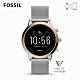 【FOSSIL】 GEN 5茱莉安娜JULIANNA HR-雙色米蘭錶帶智能錶 44MM FTW6061 product thumbnail 1