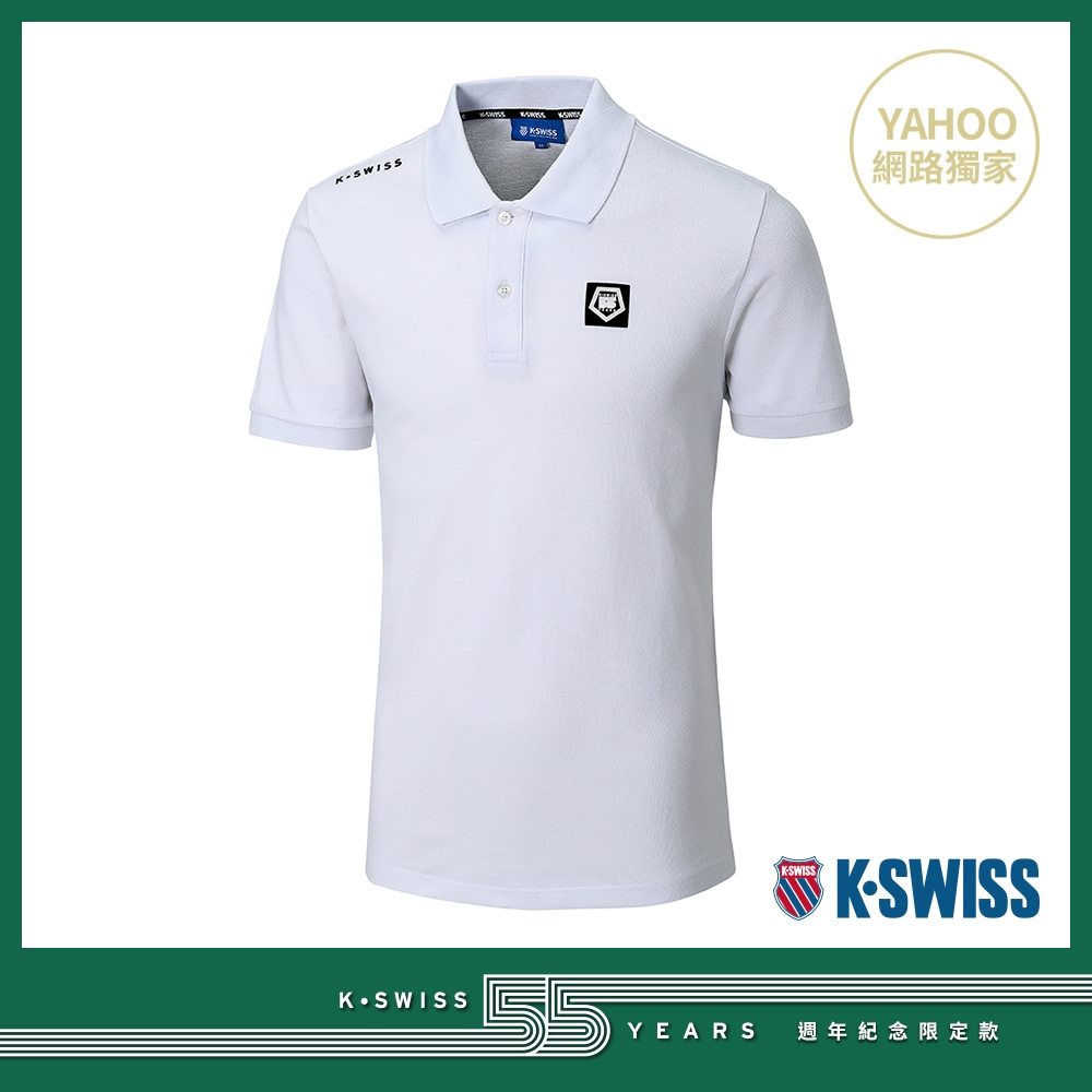K-SWISS 55TH SOLID POLO短袖Polo衫-男-白