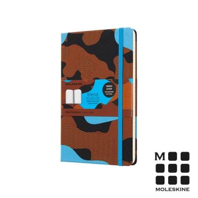 MOLESKINE BLEND18限定版筆記本(L型橫線)-迷彩藍