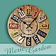 【Meric Garden】風格仿舊裝飾壁掛式時鐘/壁鐘/掛鐘(仿舊鐵牌) product thumbnail 1