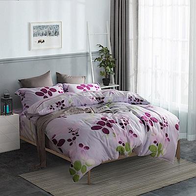 夢工場 春色蘊藏40支紗天絲兩用被床包組-特大