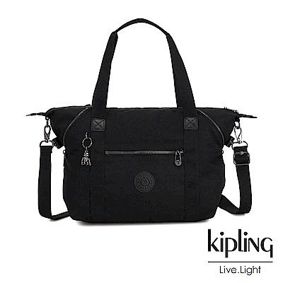 Kipling 極致低調黑手提側背包-ART