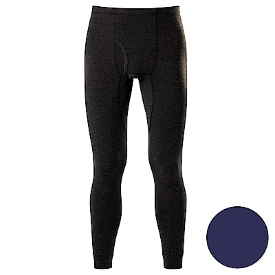 DADADO-極衣恆溫紗素面M-LL 保暖褲(藍)