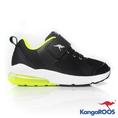 KANGAROOS 童 ASTRO 氣墊跑鞋(黑)