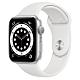 Apple Watch Series 6 (GPS) 44mm 銀色鋁金屬錶殼+白色錶帶(M00D3TA/A) product thumbnail 1