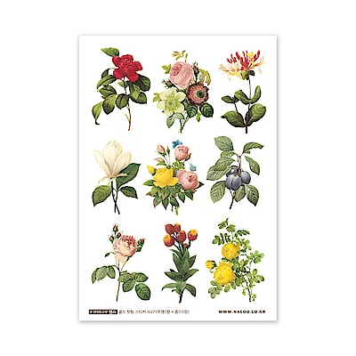 ByNACOO 自剪貼紙包(10入)-027花卉3