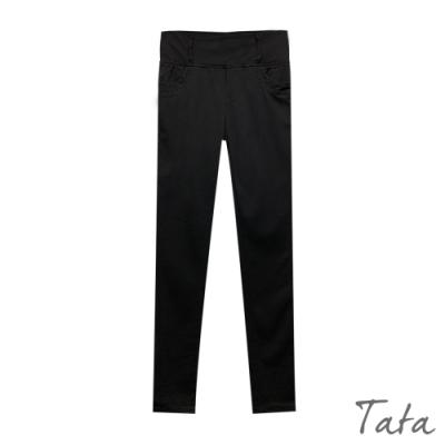 素面高彈力顯瘦緊身褲 TATA-(S~XL)