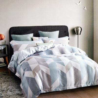 Saint Rose頂級精緻100%天絲床罩八件組(包覆高度35CM)-伯格 加大
