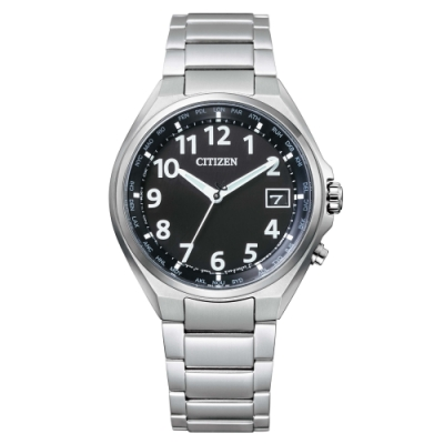 CITIZEN 極簡紳士電波光動能鈦金屬腕錶CB1120-50F