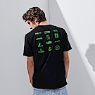 CACO-螢光圖案短T-(兩色)-男【QNC081】