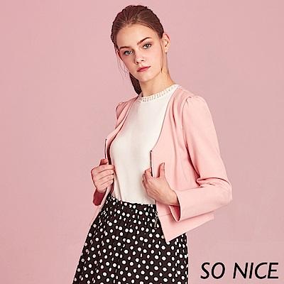 SO NICE優雅造型羅馬布外套